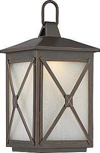 nuvo lighting 62 811 roxton 1 light 12w led umber bay outdoor